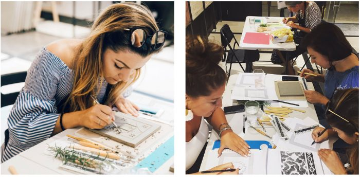 Carve your own 'Artisan Tile' Workshop in our London Showroom.