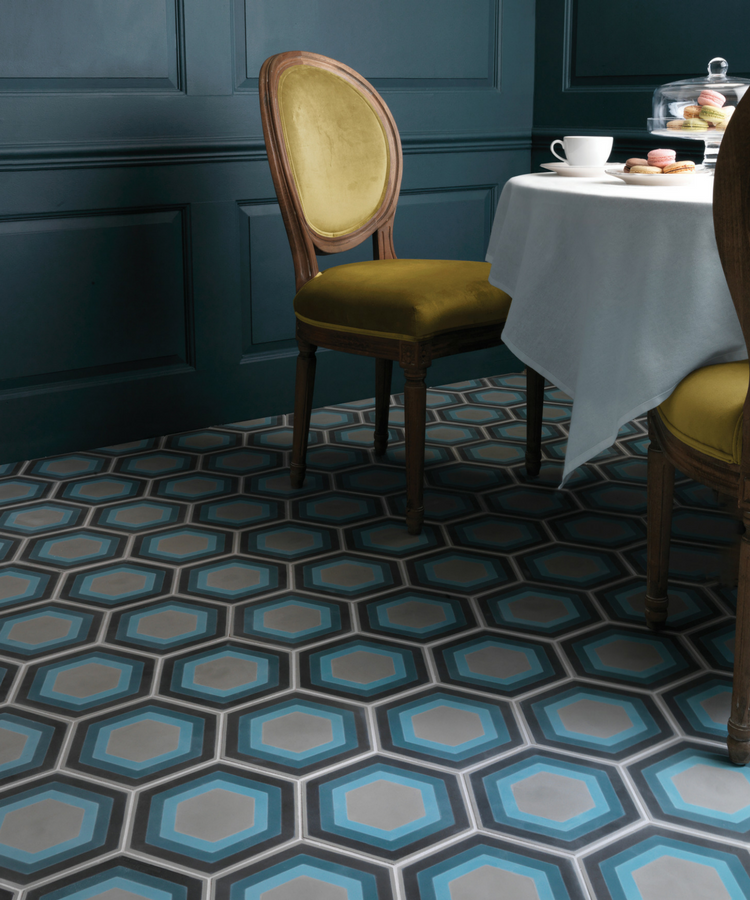 Hex patterns to set the trend for 2018 interiors