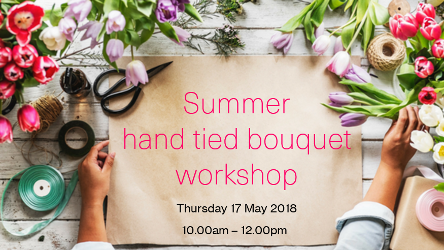 Ammi Flowers hand tied bouquet workshop with Artisans of Devizes Thursday 17 May 10.00am-12.00pm