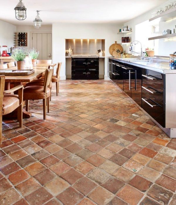 Antique Burgundy Terracotta Tiles