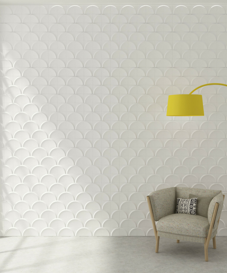 Bowl Ceramic Tile for creating texture on walls