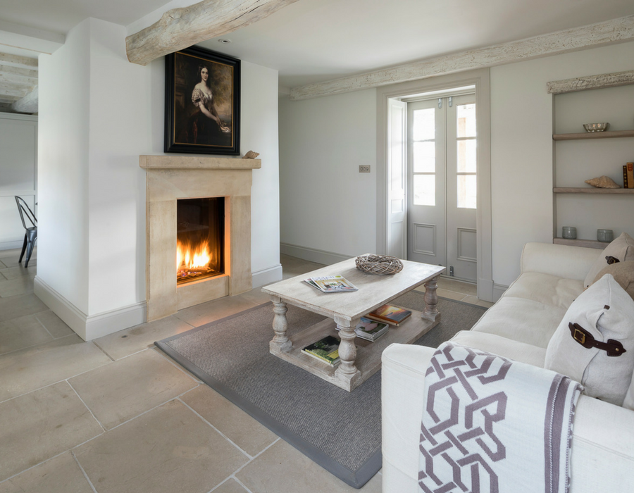 Cosy sitting area with open fire