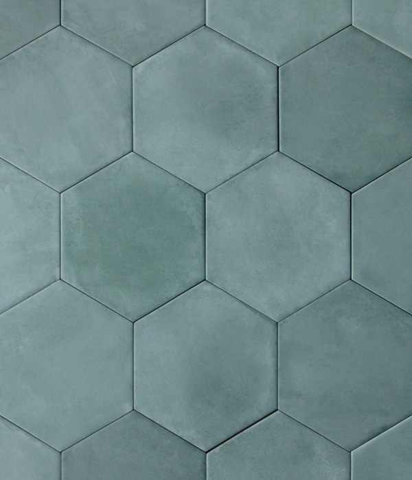 Medina Aqua Hex Tile group