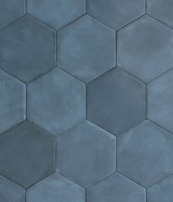 Medina Hex Navy Tile Group