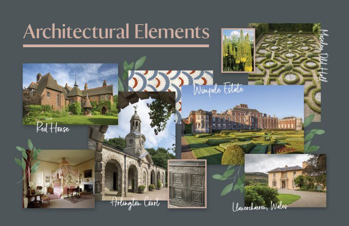National Trust Tile Collection - Architectural Elements moodboard